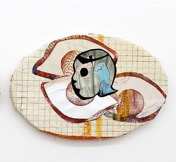 Tschabalala Self, Eyes That See II 2015, Oil, fabric and pigment on canvas